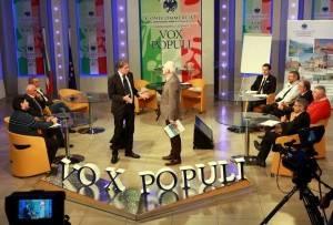 Nella foto il Presidente Patrignani e Valbonetti Pier Giorgio durante le conclusioni della puntata di ieri sera